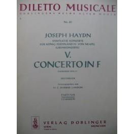 HAYDN Joseph Concerto 5 in F Orchestre