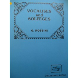 ROSSINI G. Vocalises and Solfèges Chant Piano 1986