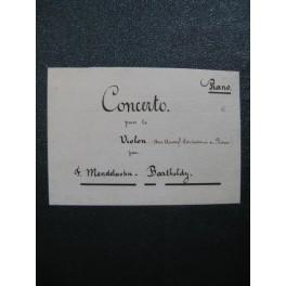 MENDELSSOHN Concerto op 64 Violon Piano ca1850