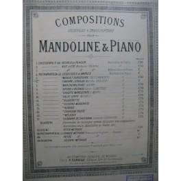 PIETRAPERTOSA J. Menuet Directoire Piano Mandoline XIXe