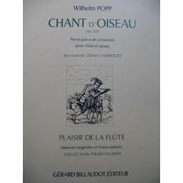 POPP Wilhelm Chant d'Oiseau op 324 Flûte Piano