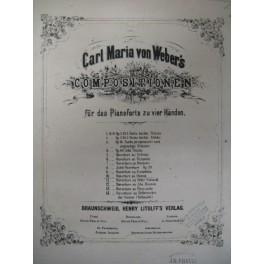 WEBER Carl Maria von Oberon Ouverture piano 4 mains ca1860