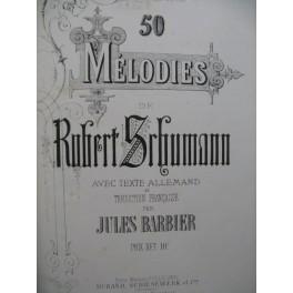 SCHUMANN Robert 50 Mélodies Piano Chant 1863