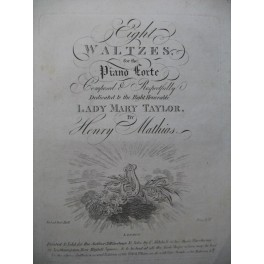 MATHIAS Henry Eight Waltzes Piano ca1810