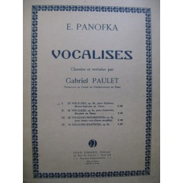 PANOFKA E. 24 Vocalises Chant Piano 1949