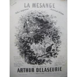 DELASEURIE Arthur La Mésange Piano 4 mains 1859