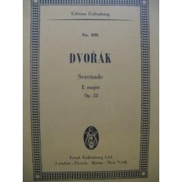 DVORAK Antonin Serenade E major op 22 Orchestre