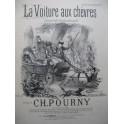 POURNY Charles La Voiture aux chèvres Chant Piano XIXe