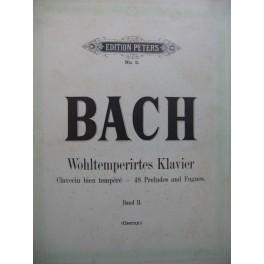 BACH J. S. Wohltemperirtes Klavier 48 Préudes et Fugues
