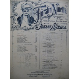 BAUER Julius und WITTMANN Hugo Fürstin Ninetta Piano ca1893