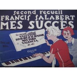 2e Recueil Francis Salabert Mes Succès 7 pièces Piano 1926