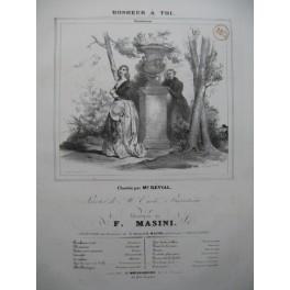 MASINI F. Bonheur à toi Chant Piano ca1830