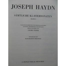 HAYDN Joseph Sämtliche Klaviersonaten Band 1 Piano