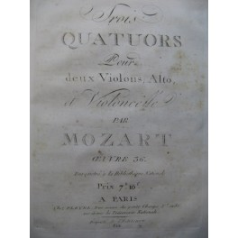 Recueil de Quatuors Pleyel Haydn Gnecco Mozart 2e Violon ca1805