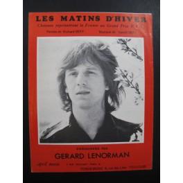 Les Matins d'Hiver Gérard Lenorman Chant Piano 1972