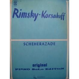 RIMSKY-KORSAKOW N. Scheherazade Piano