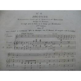 ISOUARD Nicolo Joconde No 4 Chant Piano ou Harpe ca1814