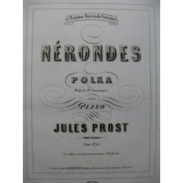 PROST Jules Nérondes JOUANIQUE Dédicace Piano XIXe siècle
