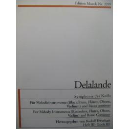 DELALANDE Michel-Richard Symphonie des Noëls Mélodie Basse continue