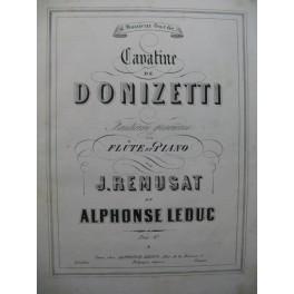REMUSAT Jean & LEDUC Alphonse Cavatine de Donizetti Flûte Piano 1858