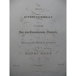 HERZ Henri Petit Divertissement sur une Cracovienne Favorite Piano ca1838