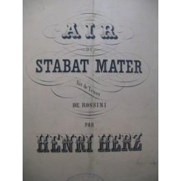 HERZ Henri Air du Stabat Mater Piano XIXe siècle