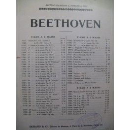 BEETHOVEN Sonate No 6 op 10 No 2 Piano 1930