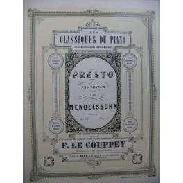 MENDELSSOHN Presto op 28 Piano XIXe