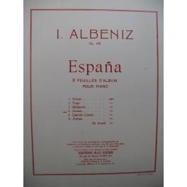 ALBENIZ Isaac Serenata No 4 Piano 1946