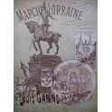 GANNE Louis Marche Lorraine Piano 4 mains XIXe
