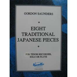 SAUNDERS Gordon 8 Traditional Japanese Pieces Flûte à bec
