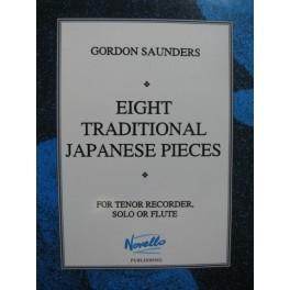 SAUNDERS Gordon 8 Traditional Japanese Pieces Flûte à bec