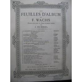 WACHS Frédéric Le Chant du Bivouac Piano 4 mains ca1870
