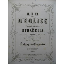DE GARAUDÉ Alexis Air d'Eglise Stradella Chant Piano ca1853