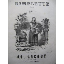 LACOUT Ad. Simplette Piano XIXe siècle