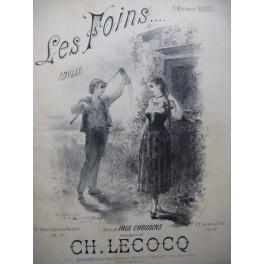 LECOCQ Charles Les Foins Dédicace Chant Piano ca1885