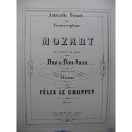 MOZART W. A. La ci darem la mano Duo Don Juan Piano 1888