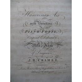 CRAMER J. B. Hanoverian Air Piano ca1815
