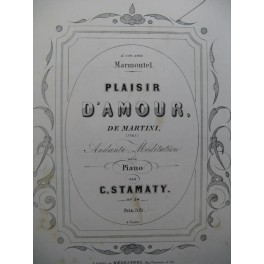 STAMATY Camille Plaisir d'Amour Piano 1857