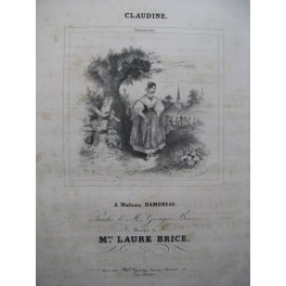 BRICE Laure Claudine Chant Piano ca1830