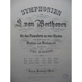 BEETHOVEN Symphonie No 7 Piano 4 mains Violon Violoncelle ca1867
