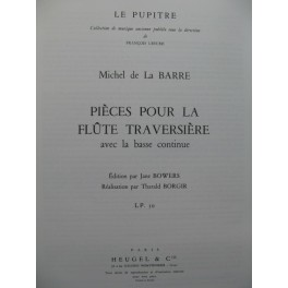 DE LA BARRE Michel Pièces Flûte Piano 1978