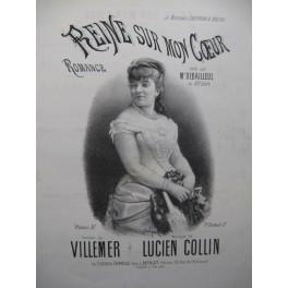 COLLIN Lucien Reine sur mon Coeur Chant Piano XIXe