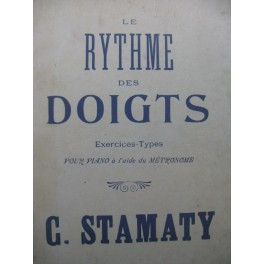 STAMATY Camille Le Rythme des Doigts Piano 1950