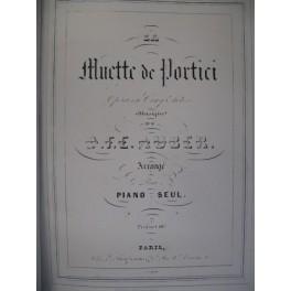 AUBER D. F. E. La Muette de Portici piano 1847