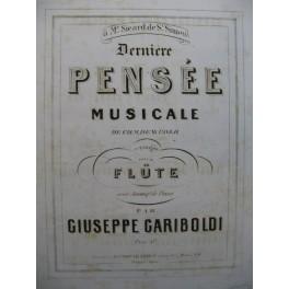 GARIBOLDI G. Dernière Pensée Musicale de Weber Piano Flûte ca1864