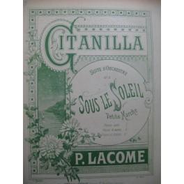 LACOME Paul Sous le Soleil Petite Marche Violon Piano ca1885