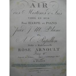 PLANE et PAPILLON Air des Mistères d'Isis Piano ca1815