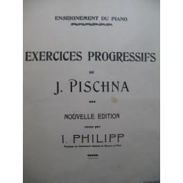 PISCHNA Johann 60 Exercices Progressifs Piano 1932