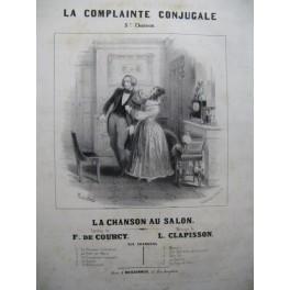 CLAPISSON Louis La Complainte Conjugale Chant Piano ca1835